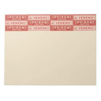 Vintage Poison Labels Note Pads