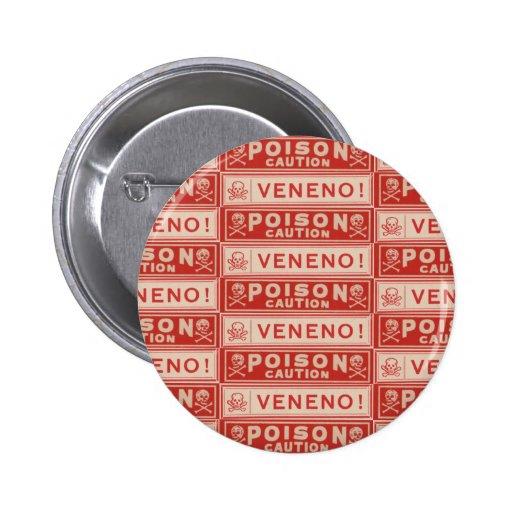 Vintage Poison Labels Pinback Button