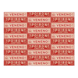 Vintage Poison Labels Post Card