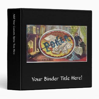 Vintage Poker Mens Smoking Room Gambling Vinyl Binder