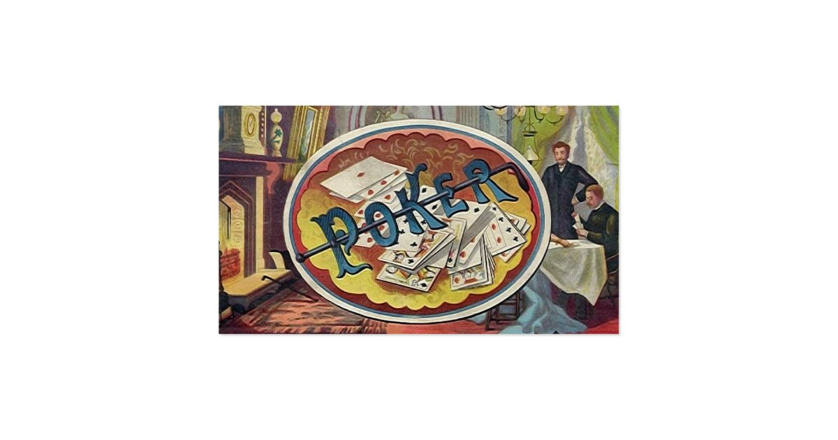 Vintage Poker Mens Smoking Room Gambling Business Card