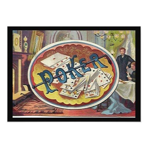 Vintage Poker Mens Smoking Room Gambling Card Zazzle