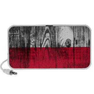 Vintage Poland national flag loudspeaker Travel Speaker