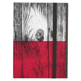 Vintage Poland national flag wood iPad air coverin Cover For iPad Air