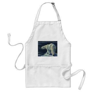Vintage Polar Bear, Arctic Marine Life Animals Adult Apron