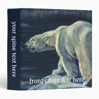 Vintage Polar Bear, Arctic Marine Life Animals Binder