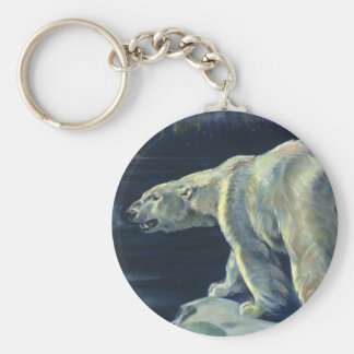 Vintage Polar Bear, Arctic Marine Life Animals Keychain