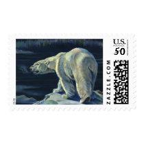 Vintage Polar Bear, Arctic Marine Life Animals Postage