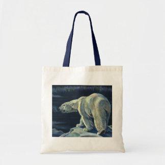 Vintage Polar Bear, Arctic Marine Life Animals Tote Bag