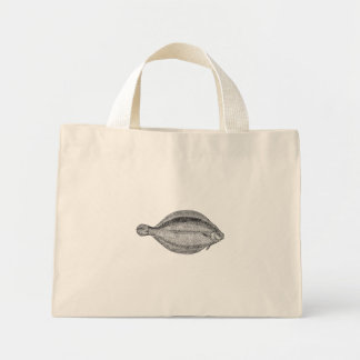 Vintage Pole Flounder Fish Personalized Template Mini Tote Bag