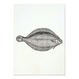 Vintage Pole Flounder Fish Personalized Template Card