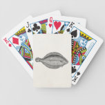 Vintage Pole Flounder Fish Personalized Template Bicycle Playing Cards