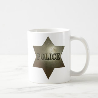 Vintage Police Badge Cup