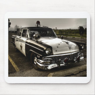 Vintage Police Car Mouse Pad