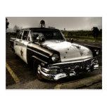 Vintage Police Car Postcard