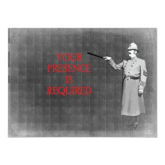 Vintage Police Man Illustration 5.5x7.5 Paper Invitation Card