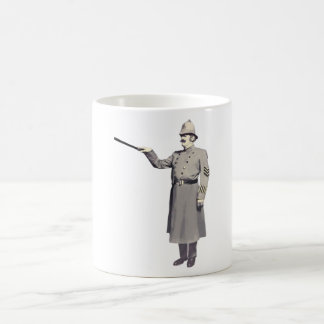 Vintage Police Man Illustration Coffee Mug