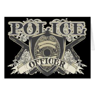 Vintage Police Officer Card