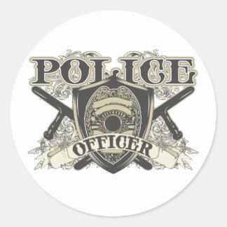 Vintage Police Officer Classic Round Sticker