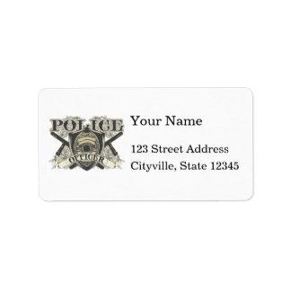 Vintage Police Officer Label
