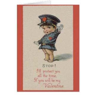 Vintage Police Officer Valentine Card