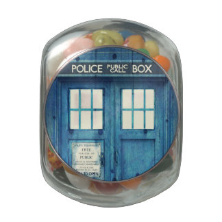 Vintage Police phone Public Call Box Jelly Belly Candy Jar