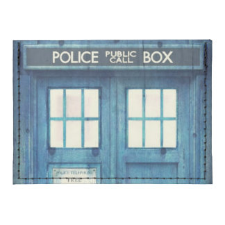 Vintage Police phone Public Call Box Card Wallet