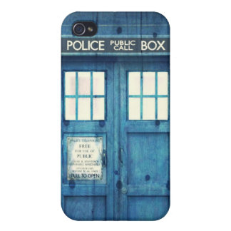 Vintage Police phone Public Call Box Cases For iPhone 4