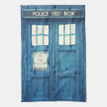 Vintage Police phone Public Call Box Kitchen Towels