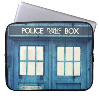 Vintage Police phone Public Call Box Laptop Sleeves