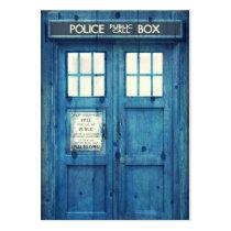 vintage, funny, police public call box, retro, movie, urban, police, geek, british, business card, cool, humor, phone box, phone, england, london, chubby business card, Business Card with custom graphic design