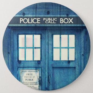 Vintage Police phone Public Call Box Pinback Button