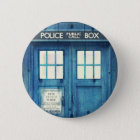 Vintage Police phone Public Call Box Pinback Button