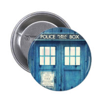 vintage, funny, old school, urban, police, geek, british, button, cool, humor, phone box, phone, england, london, round button, Button with custom graphic design