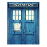 Vintage Police phone Public Call Box Postcard