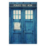 Vintage Police phone Public Call Box Poster