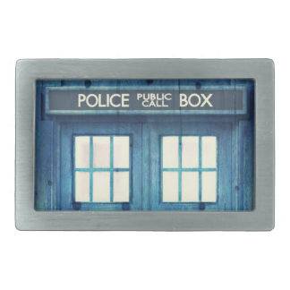 Vintage Police phone Public Call Box Rectangular Belt Buckle