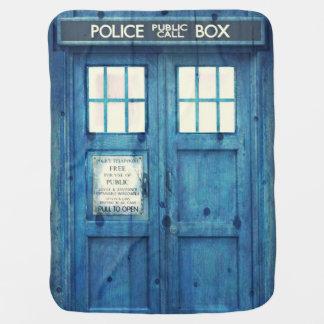 Vintage Police phone Public Call Box Swaddle Blanket
