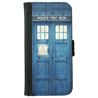 Vintage Police phone Public Call Box Wallet Phone Case For iPhone 6/6s