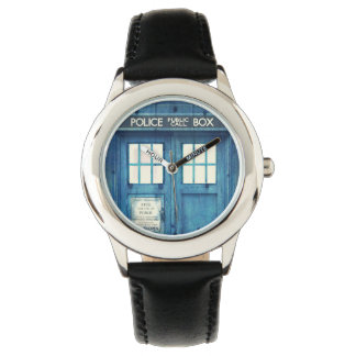 Vintage Police phone Public Call Box Wrist Watch