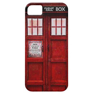 Vintage Police Public Call Box iPhone 5 Case (red)