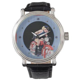 Vintage Police Woman Pin up Wristwatch
