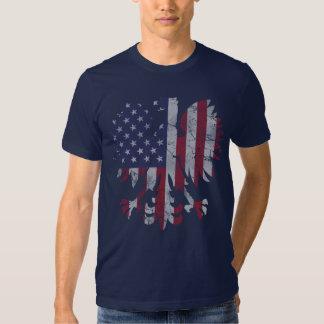 Vintage Polish American Flag Eagle Shirt