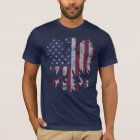Vintage Polish American Flag Eagle T-Shirt