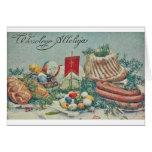 Vintage Polish Easter Card Greeting Card