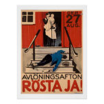 Vintage Polish Prohibition Poster 1922