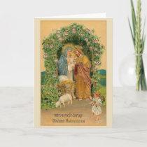 Vintage Polish Religious Christmas Card