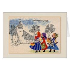 Vintage Polish Wesołych Świąt Christmas Card at Zazzle