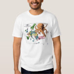 Vintage Political Cartoon Map of Europe (1877) Tshirts