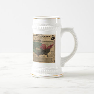 Vintage Political Map of The United States (1856) Beer Stein